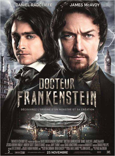 Docteur Frankenstein film James McAvoy
